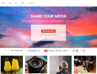 Front-end Content Submission & Viral Blog WordPress Themes