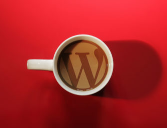 Cool red background morning coffee WordPress wallpaper