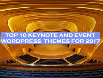 Top 10 Keynote and Event WordPress Themes 2017