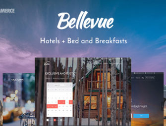 Bellevue WordPress booking functionality theme for a Hotel, Guesthouse or Bed & Breakfast