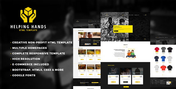 HelpingHands wordpress theme review