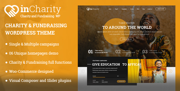 InCharity wordpress theme review