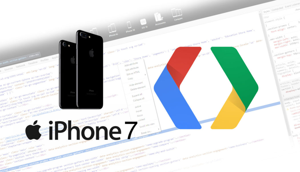 How to emulate iPhone 7 in Chrome developer tools to debug a