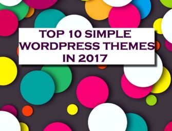 TOP 10 Simple WordPress Themes 2017
