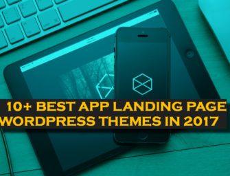 10+ Best App Landing Page WordPress Themes in 2017