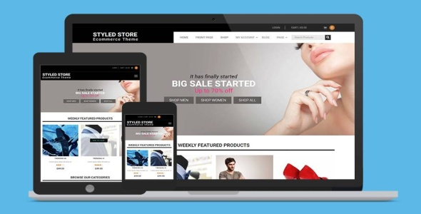 Styled Store Pro fast performace WooCommerce theme