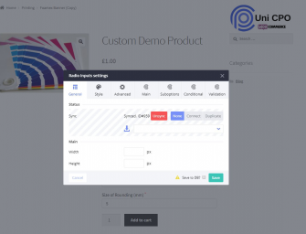 Custom WooCommerce Product Options & Pricing Tables with Uni CPO plugin