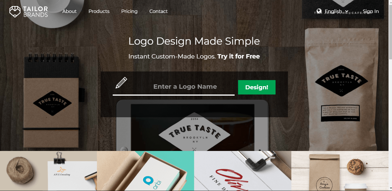 Tailorbrand-home-page