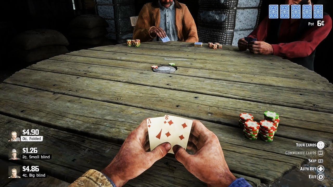 poker gameplay RedDeadRedemption