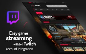 video streaming wp theme twitch support