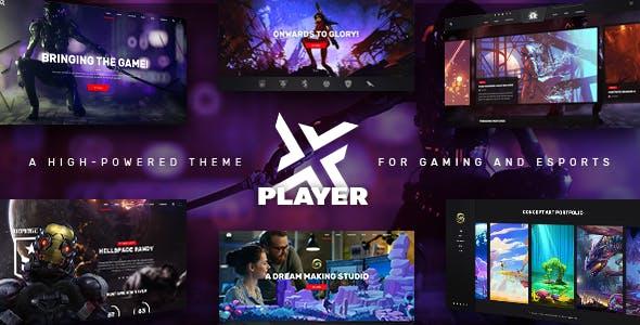 PlayerX gaming magazine wordpress template